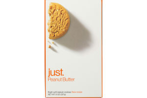 Just. Peanut Butter Soft-Baked Cookies - 8 CT