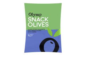 Оливки Olymp Микс зеленые и Каламата с травами