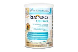 Суміш суха для дітей від 7років і дорослих Аромат ванілі Optimum Resource ж/б 400г