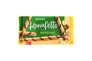 Трубочки Roshen вафельні Konafetto Hazelnut 156г х15