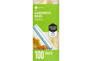 SE Grocers Resealable Sandwich Bags - 100 CT