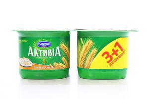 Бифидойогурт Отруби-злаки 3% Активиа 4*140г