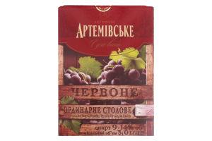 Вино Артемівське Червоне Сухе 3л х4