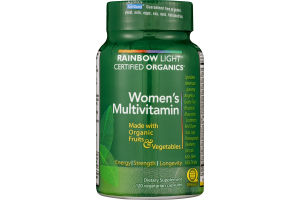 Rainbow Light Certified Organics Women's Multivitamin Vegetarian Capsules - 120 CT