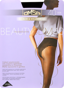 Колготки Omsa Beauty slim 40 утяжка nero р.2