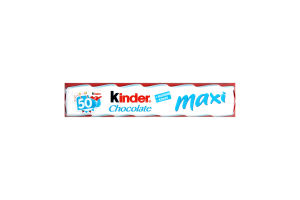 Шоколад молочный с молочной начинкой Maxi Kinder Chocolate м/у 21г