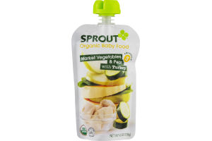 Sprout Organic Baby Food Market Vegetables & Pear with Turkey 3