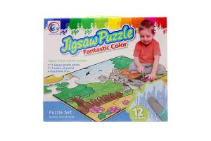 Пазл-раскраска Jigsaw Puzzle Заец 12эл 132084-JP