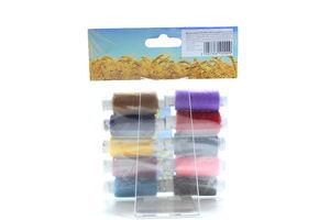 Нитки швейні №40 10шт 200м кольорові