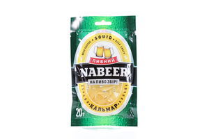 Кальмар кольца солено-сушеный Пивний Nabeer м/у 20г