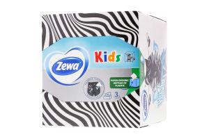 Салфетки бумажные детские 3-х слойные Zewa 60шт