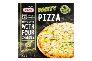 Пицца замороженная с 4 сортами сыра Party Pizza Vici к/у 350г