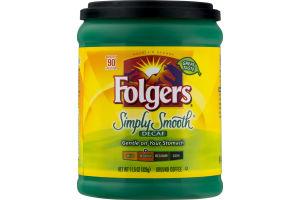 Folgers Simply Smooth Decaf Ground Coffee Medium