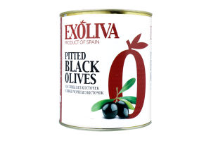 Коробки, оливки чорні кісточки стерилізовані TM Exoliva 2800u