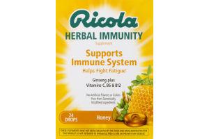 Ricola Herbal Immunity Supplement Supports Immune System Honey
