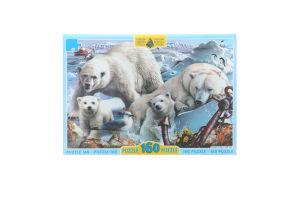 Пазли для дітей від 3рок Білі ведмеді Київська Фабрика Іграшок 160ел