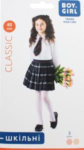 Колготи дитячі Boy&Girl Classic 40den 128-134 powder