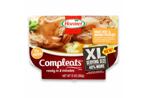 Hormel Compleats XL Roast Beef & Mashed Potatoes with Gravy, 13 Ounce