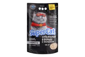 Наполнитель для кошачих туалетов древесный гигиенический Премиум Super Cat 3кг