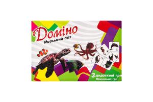 Гра настільна для дітей від 3років №30767 Доміно Морський світ Strateg 1шт