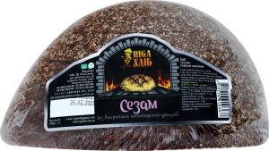 Хліб половинка в нарізці Сезам Riga Хліб м/у 250г