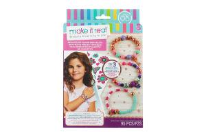 Набір для творчості для створення шарм-браслетів для дітей від 8 років Квіткова фантазія Make It Real 1шт