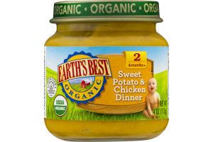 Earth's Best Organic Stage 2 Sweet Potato & Chicken Dinner