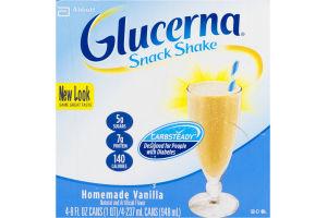 Glucerna Snack Shake Homemade Vanilla - 4 CT