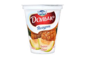 Йогурт 3.2% с наполнителем ананас-дыня Дольче ст 280г