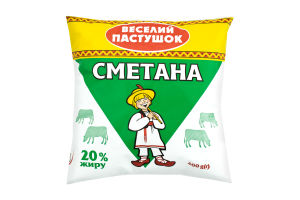 Сметана 20% Веселий Пастушок м/у 400г