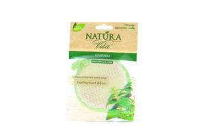 Спонж-мочалка для лица с волокнами крапивы Natura Vita 1шт