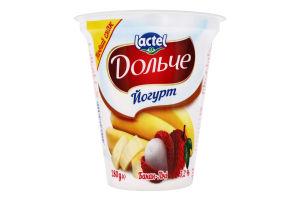 Йогурт 3.2% Банан-лічі Дольче ст 280г