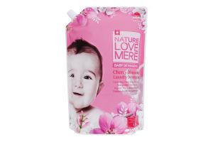 Гель для стирки детской одежды с ароматом цветения вишни NatureLoveMere 1.3л