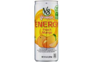 V8 V-Fusion +Energy Peach Mango