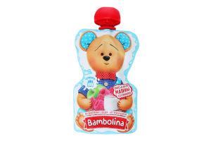 Пюре для дітей від 6міс з яблук та малини з вершками Bambolina д/п 90г