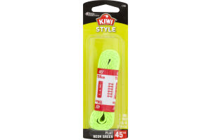 Kiwi Style Laces Flast Neon Green 45""