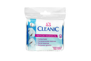 Палички ватні Cleanic 100шт поліетеленова упаковка