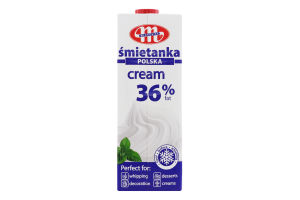 Вершки Mlekovita т/б 36% 1л Польща х12