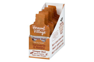 Vermont Village Vinegar Shot Turmeric & Honey - 12 CT