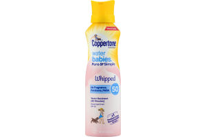 Coppertone Water Babies Whipped Sunscreen SPF 50 Pure & Simple