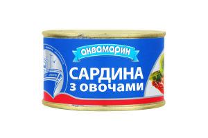 """Сардина атлан.с овощ.гарн.в т/с""""АКВА"""" 230г"""