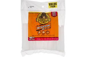 Gorilla Hot Glue Sticks - 45 CT