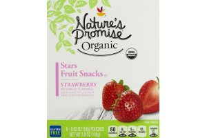 Nature's Promise Organic Stars Fruit Snacks Strawberry - 6 CT