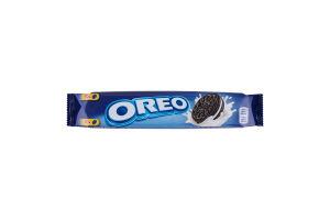 Печенье с какао и кремовой начинкой ванильного вкуса Oreo м/у 95г