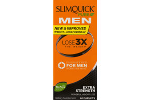Slimquick Pure For Men Extra Strength Dietary Supplement Caplets - 60 CT