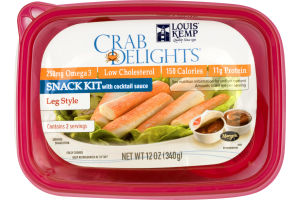 Louis Kemp Crab Delights Snack Kit with Cocktail Sauce Leg Style