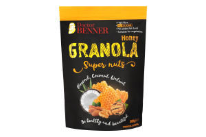 Гранола Super nuts Almond Coconut Walnut Doctor Benner д/п 300г