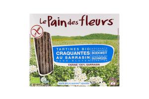 Хлібці з гречки безглютенові органічні Le Pain des Fleurs к/у 150г
