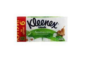 Папір туалетний Kleenex Aroma Care ромашка 3шар. 6+2шт. х5