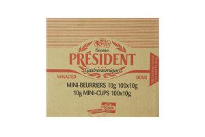 Масло Президент 82% (Коробка (0,010кг*100шт))